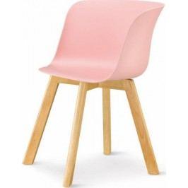 Tempo Kondela Židle LEVIN - růžová + buk