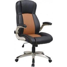Tempo Kondela Kancelářská židle KNOX - světle hnědá + černá ekokůže / plast