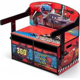 Forclaire Dětská lavice s úložným prostorem Cars