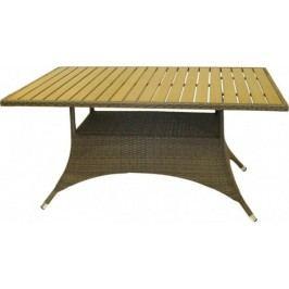Dimenza Zahradní jídelní stůl RIMINI 150x90 - hnědobéžový