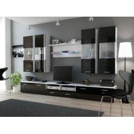 Cama Obývací stěna DREAM I - bílá/černá