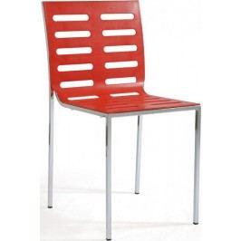 Jídelní židle CT-123-2 Chrom/plast bílá