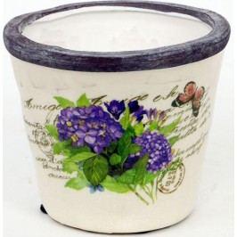 Keramický obal na květiny - hortenzie OBE723736