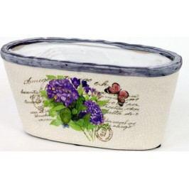 Keramický oválný obal na květiny - hortenzie OBE723781
