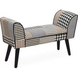 Tempo Kondela Designová lavice PEPITO TYP 7 - vzorovaná látka
