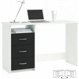 Tempo Kondela PC stůl LARISTOTE - bílá/černá