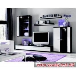 Tempo Kondela Obývací stěna CANES - bílá/černá