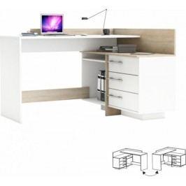 Tempo Kondela PC stůl TALE 484881 - dub sonoma / bílá