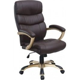 Tempo Kondela Kancelářská židle GORDON - hnědá ekokůže / plast