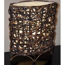 Axin Trading Lampa bambusová malá - oválná (bez žárovek)