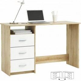 Tempo Kondela PC stůl LARISTOTE - dub sonoma/bílá