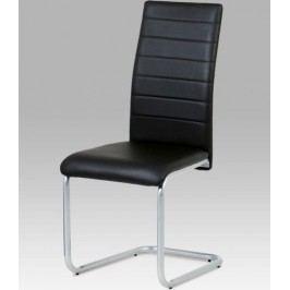 Jídelní židle DCL-102 GREY - koženka šedá / šedý lak