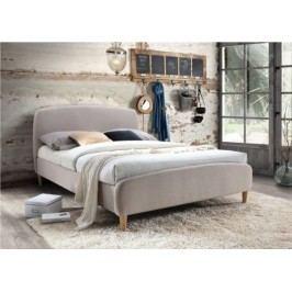 Tempo Kondela Manželská postel Rupa  - béžová látka