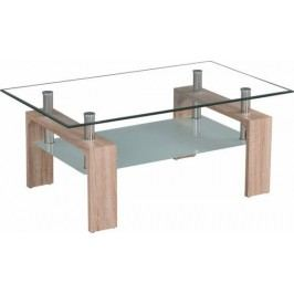 Tempo Kondela Konferenční stolek LIBOR NEW - sklo/dub sonoma
