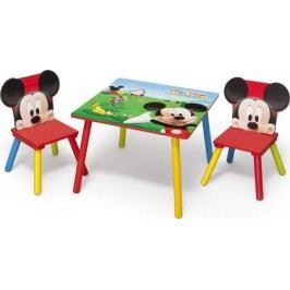Forclaire Dětský stůl s židlemi Myšák Mickey II