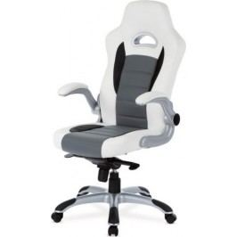 Kancelářská židle KA-E240B RED - černá/červená + kupón KONDELA10 na okamžitou slevu 10% (kupón uplatníte v košíku)