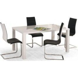 Jídelní stůl Ronald Bílý 120-160x80 cm + kupón KONDELA10 na okamžitou slevu 10% (kupón uplatníte v košíku)