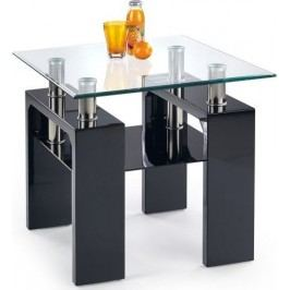 Konferenční stolek Diana H kwadrat Černý lak + kupón KONDELA10 na okamžitou slevu 10% (kupón uplatníte v košíku)