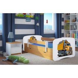 Forclaire Dětská postel se zábranou Ourbaby - Náklaďák postel 180 x 80 cm s úložným prostorem + kupón KONDELA10 na okamžitou slevu 10% (kupón uplatníte v košíku)