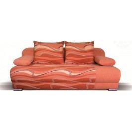 Falco Pohovka Futon - oranžová vlnky