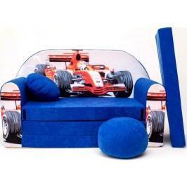 Forclaire Dětská pohovka Formule Modrá