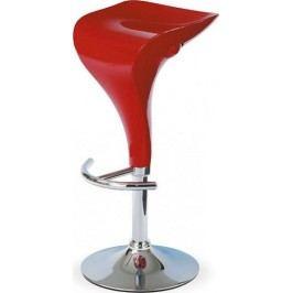 Barová židle AUB-310B RED - Červený plast + kupón KONDELA10 na okamžitou slevu 10% (kupón uplatníte v košíku)