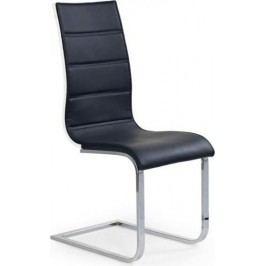 Jídelní židle K104 Bílá koženka/překližka bílá + kupón KONDELA10 na okamžitou slevu 10% (kupón uplatníte v košíku)