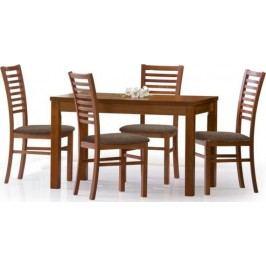 Jídelní stůl Ernest 120/160 Ořech tmavý + kupón KONDELA10 na okamžitou slevu 10% (kupón uplatníte v košíku)