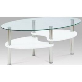 Konferenční stolek AF-2007 WT2 - Bílá-vysoký lesk + kupón KONDELA10 na okamžitou slevu 10% (kupón uplatníte v košíku)