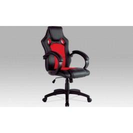 Kancelářská židle KA-F281 GRN - černá koženka / zelená MESH + kupón KONDELA10 na okamžitou slevu 10% (kupón uplatníte v košíku)