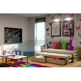Vomaks Dětská postel s výsuvnou přistýlkou DPV 012 200 cm x 90 cm Barva bílá + kupón KONDELA10 na okamžitou slevu 10% (kupón uplatníte v košíku)