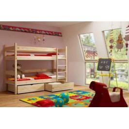 Vomaks Patrová postel PP 002 KOMPLET 200 cm x 90 cm Barva bílá + kupón KONDELA10 na okamžitou slevu 10% (kupón uplatníte v košíku)