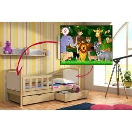 Vomaks Dětská postel DP 013 - 02 Džungle 200 cm x 90 cm Barva bílá + kupón KONDELA10 na okamžitou slevu 10% (kupón uplatníte v košíku)
