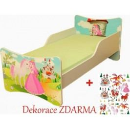 Forclaire Dětská postel Princezna postel s úložným prostorem 200x90cm + kupón KONDELA10 na okamžitou slevu 10% (kupón uplatníte v košíku)