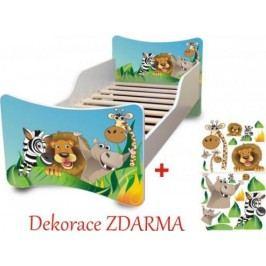 Forclaire Dětská postel Zoo postel s úložným prostorem 200x90cm + kupón KONDELA10 na okamžitou slevu 10% (kupón uplatníte v košíku)
