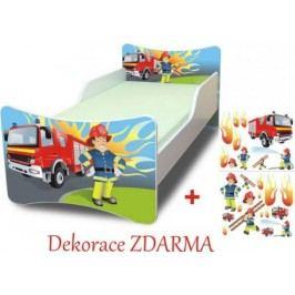 Forclaire Dětská postel Požárník postel s úložným prostorem 160x90cm + kupón KONDELA10 na okamžitou slevu 10% (kupón uplatníte v košíku)