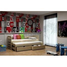 Vomaks Dětská postel s výsuvnou přistýlkou DPV 011 KOMPLET 200 cm x 90 cm Barva bílá + kupón KONDELA10 na okamžitou slevu 10% (kupón uplatníte v košíku)