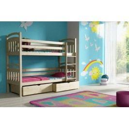Vomaks Patrová postel PP 003 + zásuvky 200 cm x 90 cm Barva bílá + kupón KONDELA10 na okamžitou slevu 10% (kupón uplatníte v košíku)