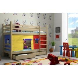 Vomaks Patrová postel PP 011 + zásuvky 200 cm x 90 cm Barva bílá + kupón KONDELA10 na okamžitou slevu 10% (kupón uplatníte v košíku)