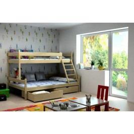 Vomaks Patrová postel s rozšířeným spodním lůžkem PPS 002 KOMPLET 200 cm x 140 cm Barva bílá + kupón KONDELA10 na okamžitou slevu 10% (kupón uplatníte v košíku)
