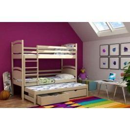 Vomaks Patrová postel s výsuvnou přistýlkou PPV 003 KOMPLET 200 cm x 90 cm Barva bílá + kupón KONDELA10 na okamžitou slevu 10% (kupón uplatníte v košíku)