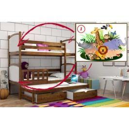 Vomaks Patrová postel s výsuvnou přistýlkou PPV 005 - 01 Safari KOMPLET 200 cm x 90 cm Barva bílá + kupón KONDELA10 na okamžitou slevu 10% (kupón uplatníte v košíku)