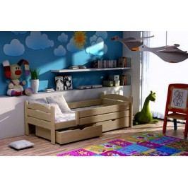 Vomaks Dětská postel DP 005 + zásuvky 200 cm x 90 cm Barva bílá + kupón KONDELA10 na okamžitou slevu 10% (kupón uplatníte v košíku)