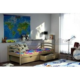 Vomaks Dětská postel DP 006 KOMPLET 200 cm x 90 cm Barva bílá + kupón KONDELA10 na okamžitou slevu 10% (kupón uplatníte v košíku)