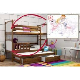 Vomaks Patrová postel s výsuvnou přistýlkou PPV 005 - 06 Princ a princezna KOMPLET 200 cm x 90 cm Barva bílá + kupón KONDELA10 na okamžitou slevu 10% (kupón uplatníte v košíku)