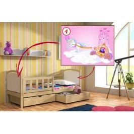 Vomaks Dětská postel DP 013 - 04 Kočár KOMPLET 200 cm x 90 cm Barva bílá + kupón KONDELA10 na okamžitou slevu 10% (kupón uplatníte v košíku)