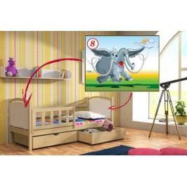 Vomaks Dětská postel DP 013 - 08 Mamut KOMPLET 200 cm x 90 cm Barva bílá + kupón KONDELA10 na okamžitou slevu 10% (kupón uplatníte v košíku)