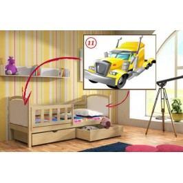 Vomaks Dětská postel DP 013 - 11 Tahač KOMPLET 200 cm x 90 cm Barva bílá + kupón KONDELA10 na okamžitou slevu 10% (kupón uplatníte v košíku)