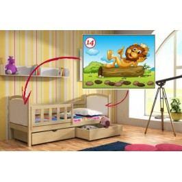 Vomaks Dětská postel DP 013 - 14 Lev 200 cm x 90 cm Barva bílá + kupón KONDELA10 na okamžitou slevu 10% (kupón uplatníte v košíku)