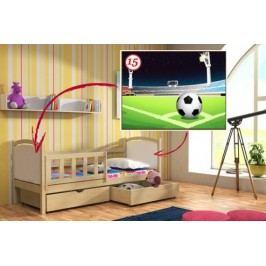 Vomaks Dětská postel DP 013 - 15 Fotbalové hřiště 200 cm x 90 cm Barva bílá + kupón KONDELA10 na okamžitou slevu 10% (kupón uplatníte v košíku)